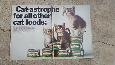 1967 Print Ad Puss 'n Boots Cat-astrophe for all the other cat foods