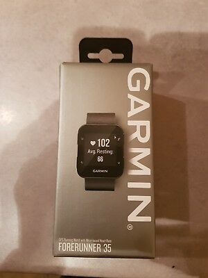 Brand New Garmin Forerunner 35 with GPS - Black, boxed including charger cable.