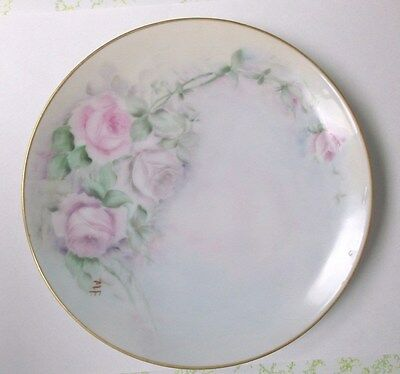 Vintage Thomas Sevres Hand Painted Plate Signed MF