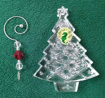 Waterford Crystal 2008 Christmas Tree Ornament with Enhancer Ireland       (O53)