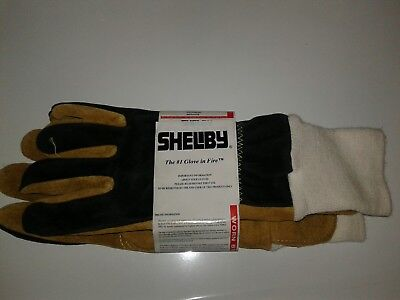 Shelby pig skin fire fighting gloves size XL