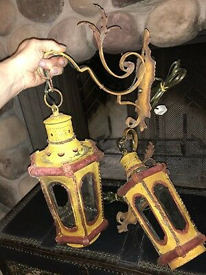 Beautiful Pair Of Antique Venetian Lanterns