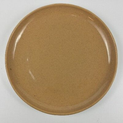 """Bybee Pottery 10 3/4"""" Tan Brown Dinner Plate Speckled Glaze"""