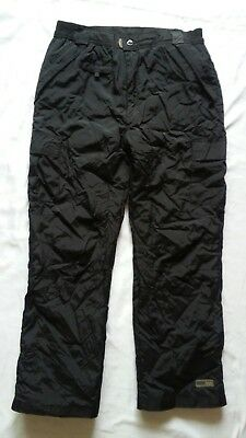 Pulse Women's Insulated Winter Cargo Waterproof Ski Snow Black Pants Sz L