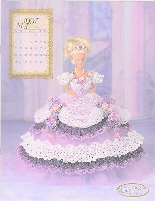Annie Potter Royal Ballgown  series for Barbie.  Miss January 1997 crochet