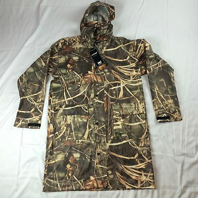 New $130 S M L XL 4XL Helly Hansen Camo Long Rain Coat Jacket Hunting Impertech