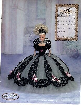Annie Potter Royal Ballgown  series for Barbie.  Miss September  1997 crochet
