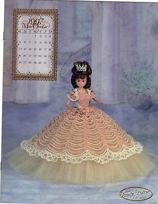 Annie Potter Royal Ballgown  series for Barbie.  Miss October  1997 crochet