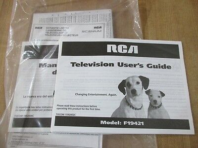 RCA Television User's Guide owners manual  Model F19421