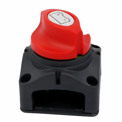 Battery Disconnect Isolator Master Switch Red for Marine Boat Car Vehicles