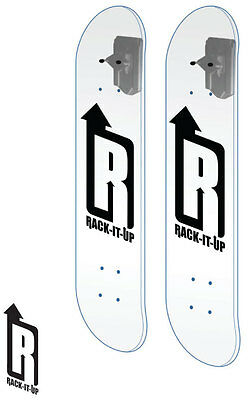2Sets Vertical Skateboard Deck Display Rack Hook Garage Wall Mount Skateboarding