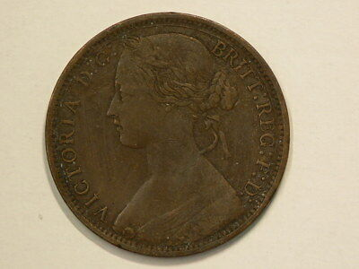 Great Britain 1874 H Penny  KM# 749.2  #G8511