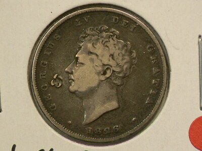 Great Britain 1826 Silver Shilling  Counterstamp  KM#694  #G8514