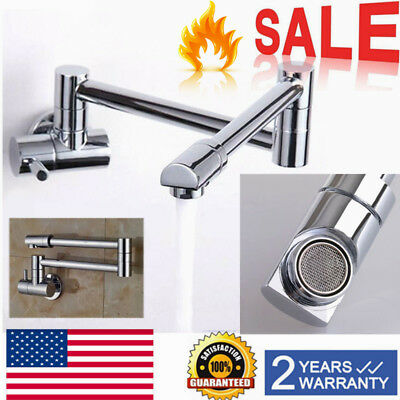 FOLDING Single Cold Water Kitchen Sink Tap Pot Filler Basin Faucet ...