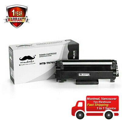 Moustache® TN760 Black Toner Cartridge High Yield - No Chip For Brother