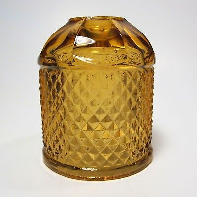 Viking Diamond Point Fairy Lamp Replacement Shade Top Amber Glimmer Candle