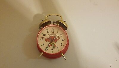 Vintage Kool-Aid Man Alarm Clock Advertising Wacky Time Machine Manual Wind