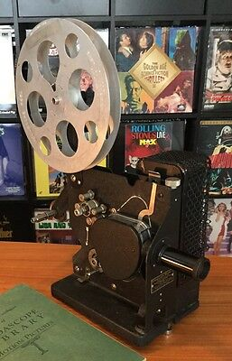 1920's 16mm Movie Film Projector KODASCOPE Model C By Eastman Kodak w/ Manual