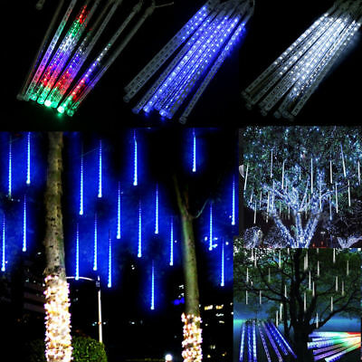 Falling Rain Drop/icicle Snow Fall String LED Xmas Tree Cascading Lights Decor