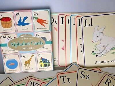 Wonderful READ To ME Alphabet Wall Art Cards Posters eeBoo ABC Retro