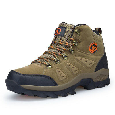 Men's waterproof lightweight leather winter outdoor tactical hiking boots shoes