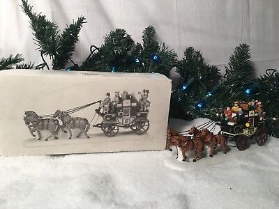 New Department 56 Heritage Village Series Holiday Coach #55611 Accessory