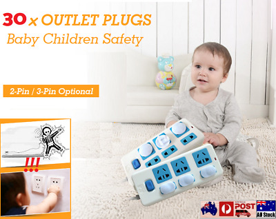 30x Baby Child Kid Safety Power Board Socket Outlet Point Plug Protective Covers