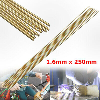 10PCS 1.6x250mm Brass Rods Wires Sticks For Repair Welding Brazing Soldering