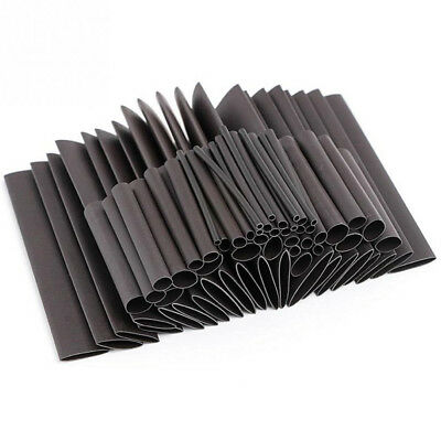 70 Pcs Black Heat Shrink Heatshrink Wire Cable Tubing Tube Sleeving Sleeve Wrap