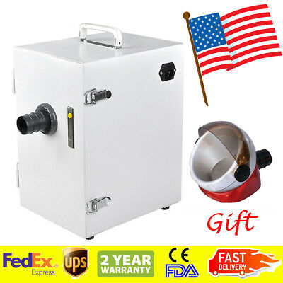 Dental Digital Single-Row Dust Collector Vacuum Cleaner Lab Equipment Machine US