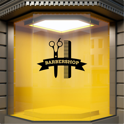 BarberShop Window Sticker Barbers Display Vinyl Sign Hairdresser Decal