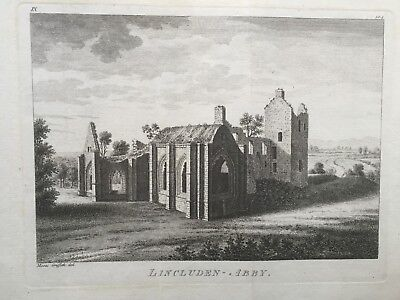 1772 Antique Print; Lincluden Abbey, Dumfries, Scotland after Moses Griffith