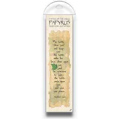 Authentic Papyrus Bookmark w Bible Verse-The LORD bless you and keep.… Numb 6:24