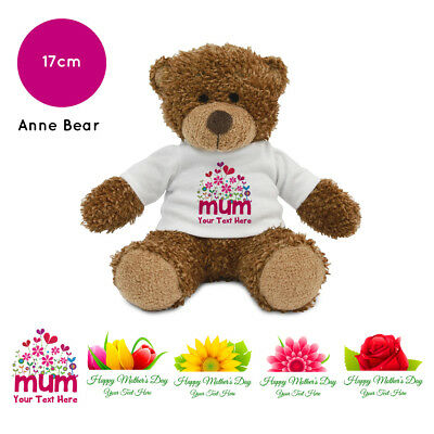 Personalised Name Mothers Day 2019 Anne Teddy Bear Presents Gifts for Mum Nan