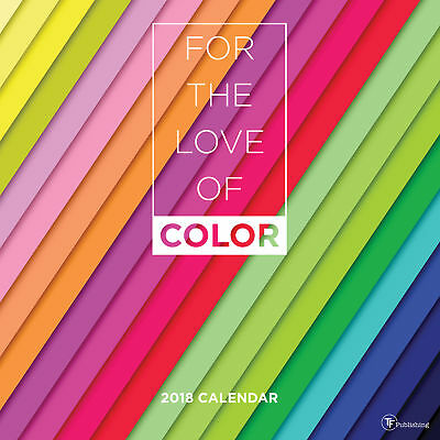 2018 For the Love of Color Large Grid Wall Calendar