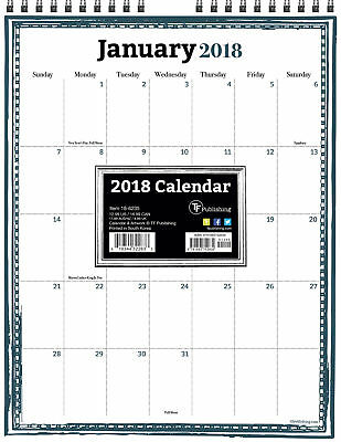 2018 Framed Monthly Wall Calendar