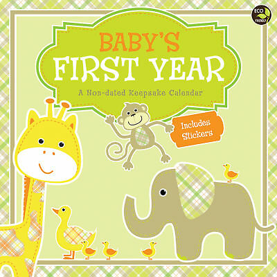 Babys First Year Plaid NonDated Wall Calendar