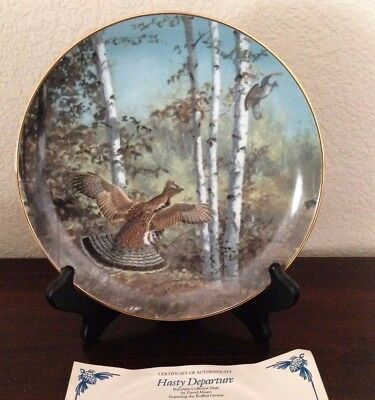 Hasty Departure Plate Game Birds Collection David Maass Danbury Mint Grouse