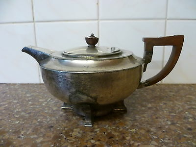 ANTIQUE, RARE, DECO, ELECTRO PLATED BRITTANIA METAL TEA POT BY JAMES DIXON & Son