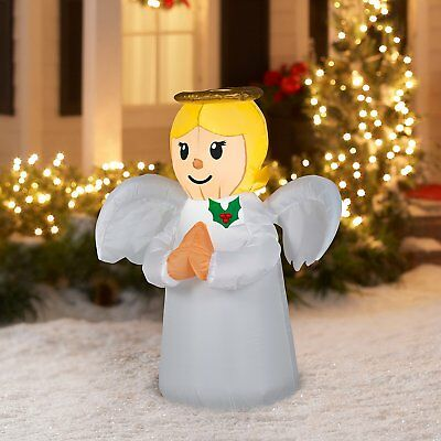 Holiday Time Angel Airblown Inflatable 3.5 Feet Tall Lights Up NEW