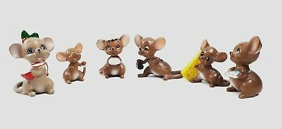 Vintage Josef Originals Mouse Village Collection Figurine Lot of 6