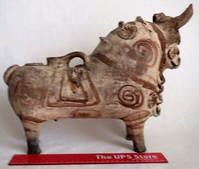 ANCIENT INDUS VALLEY DECORATED POTTERY BULL JUG VESSEL c.2500 BC