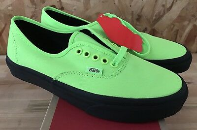 9b2904129a9e46 Vans Authentic Black Outsole Neon Green Sz Mens 7 NIB