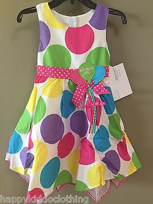 Bonnie Jean Girls Boutique 6th Birthday girl Party Dress Size 6 New 54.00