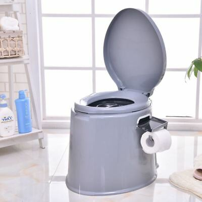 5L Portable Camp Toilet Travel Camping Hiking Picnic Festival Potty Commode Loo