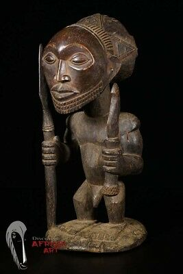 """Hand Carved Hemba Statue 21.5"""" - DR Congo - African Art"""