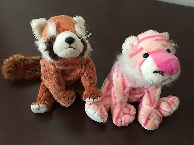 Ty Beanie Baby Mystique The Circus Pink Tiger Cat Plush Stuffed