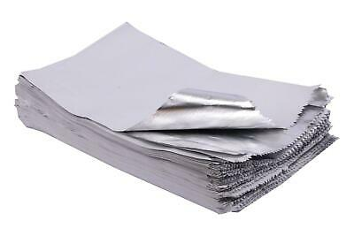 """7x9x12"""" Foil Lined Paper Bag White - Pack of 100"""