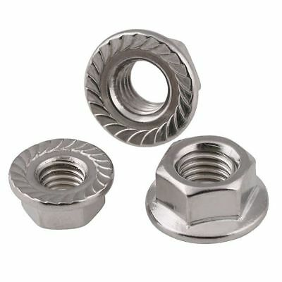 Flanged Nuts To Fit Metric Bolts & Screws A2 Stainless Steel Unc 1/4 5/16 3/8
