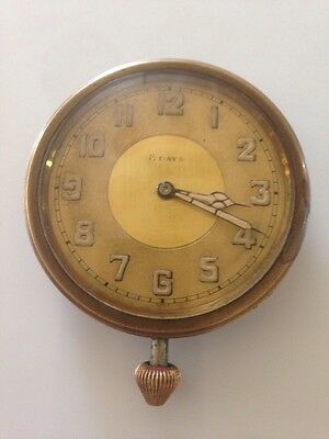 Vintage  The Children's Aid Association 8 Day Car Clock 1903-1928